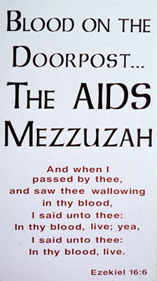 ... I decided to use my own blood to put on the doorposts of my house or any building and draw attention to the suffering within the Jewish community.  sc 1 st  Albert J. Winn & Blood on the Doorpost...The Aids Mezuzah : Albert J. Winn